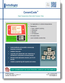CeramiCode™ High Temperature Bar Coded Ceramic Tiles