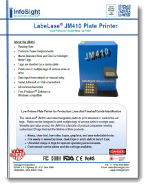 JM410 Plate Printer Brochure