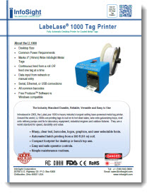 LL1000 Metal Tag Printer Brochure