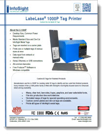LL1000P Metal ID Tag Printer Brochure