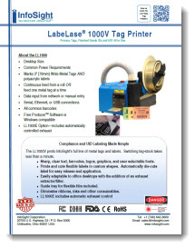 LL1000V Tag Printer Brochure