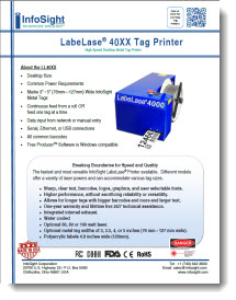LL4000 High Speed Desktop Metal Tag Printer