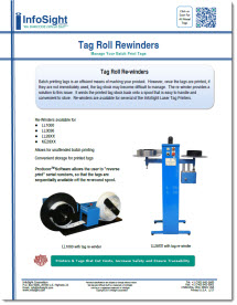 Tag roll rewinder makes it easy to manage metal tags