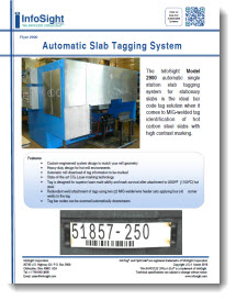 Automatic Slab Tagging System Brochure